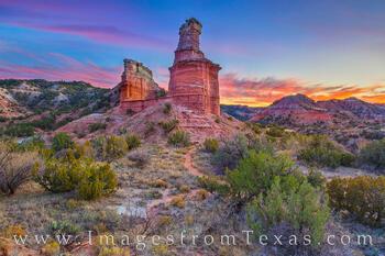 November Sunset at the Lighthouse - Palo Duro 1124-1-2