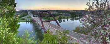 360 bridge panorama,austin bridges,austin bridge pano,pennybacker bridge pano