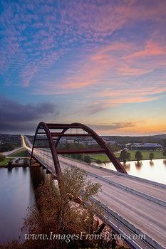 October Sunset  360 Bridge - Austin Tx
