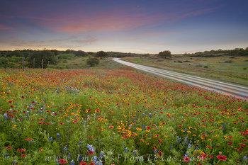 Paintbrush Sunset near Llano, Texas