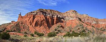 Palo Duro Canyon Morning Glow Panorama