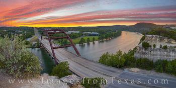 Panorama 360 Bridge Sunset in October