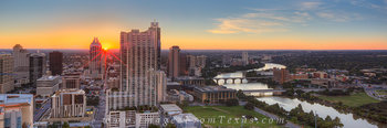 Pano of Downtown Austin at Sunrise 2