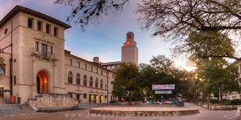 UT Campus,UT Tower,UT tower photos,west mall,austin texas,austin texas panoramas,UT panorama