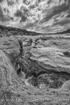 pedernales river, water, hill country, state park, black and white, prints for sale, spring, texas state parks
