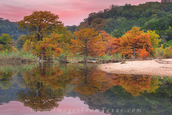 Pedernales Falls Autumn  Reflections 2