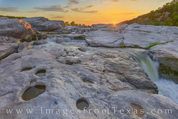 pedernales falls, cascade, waterfall, texasstateparks, sunset, hill country, summer, life is good, hill country prints