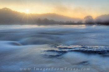 Pedernales Falls Images - Misty Morning
