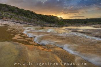 pedernales river, texas sunrise, pedernales falls, pedernales falls state park, texas state parks, texas hill country, texas hill country images, hill country photos, texas, sunrise, summer