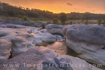 Pedernales Falls Summer Sunrise 818-1