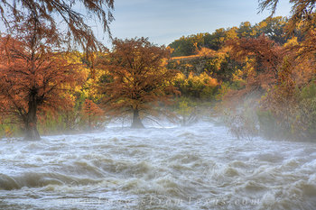 Pedernales Falls Sunrise Floods 1