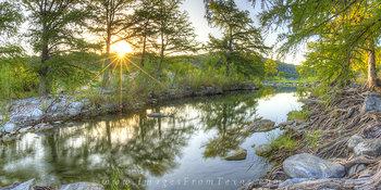 Pedernales Falls Sunrise Panorama 5