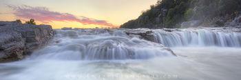 Pedernales Falls Sunset Panorama 1
