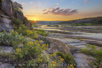 texas hill country, pedernales falls, pedernales river, texas sunrise, hill country photos, hill country prints, hill country sunrise, texas landscapes, texas wildflowers