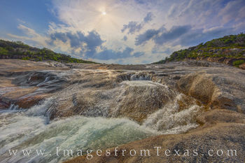 pedernales falls, pedernales river, hill country, texas state parks, cascade, waterfall, prints