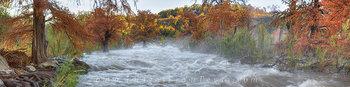Pedernales River Panorama - Flood 1