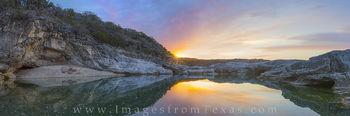 Pedernales River Panorama at Sunrise 1
