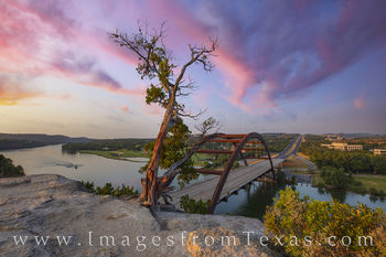 pennybacker bridge, 360 bridge, austin bridges, colorado river, sunrise, morning, austin icons, tourists, lookout