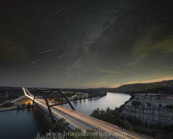360 bridge,perseid meteor shower,milky way,austin texas images,360 bridge images,360 bridge prints,texas night skies