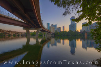pfluger pedestrian bridge, austin, town lake, ladybird lake