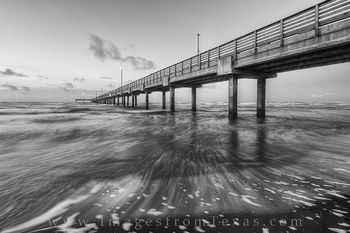 Port A - Caldwell Pier Black and White 3