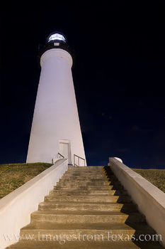 lighthouse, port isabel, south texas, night, port isabel lighthouse, moon, crescent moon