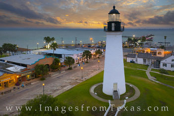 port isabel, lighthouse, south padre island, texas coast, sunrise, historical marker, historical registrar, morning, drone, aerial
