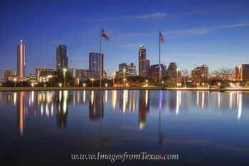 Reflection of the Austin Skyline in February 1