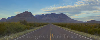 Chisos mountains, big bend national park, panorama, road ocotillo, moonset, sunrise, chihuahuan desert, texas landscapes, texas hikes, chisos images, big bend images, texas national parks