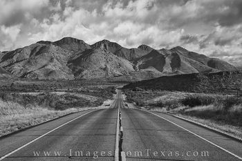 Road to the Davis Mountains 1 Black and White