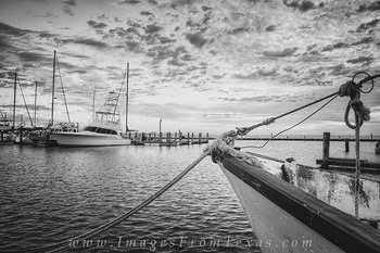 Rockport Harbor in Black and White 4