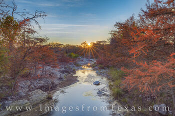 Sabinal River Sunset in November 1