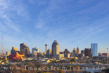 san antonio skyline, san antonio, downtown, tower of the americas, frost tower, tower of life, texas skylines, downtown san antonio