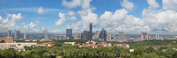 September Afternoon Panorama of Austin