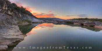 September Sunrise at Pedernales Falls Panorama 174