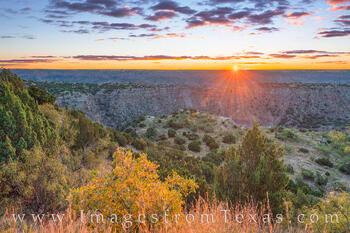 September Sunrise in Palo Duro Canyon 28-1