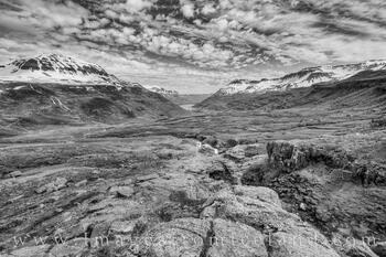 Seyðisfjörður Valley in Black and White 1
