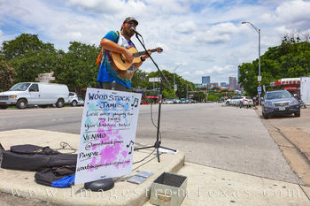 woodstock james, south congress, street performer, austin, downtown, congress ave