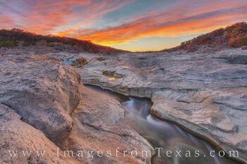 Spring Sunset at Pedernales Falls 314-1