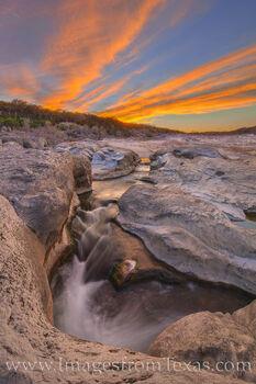 Spring Sunset at Pedernales Falls 314-2
