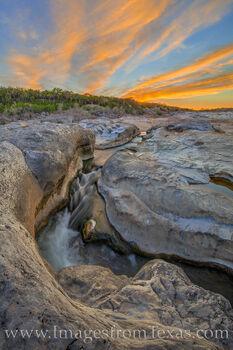 Spring Sunset at Pedernales Falls 314-4