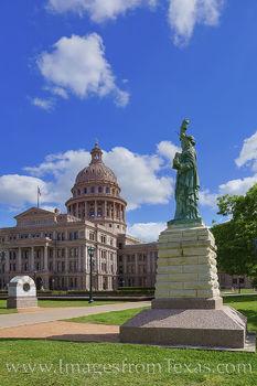 statue of liberty, replica, texas capitol, north, monument