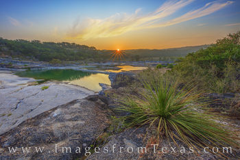 Texas hill country, pedernales river, sunrise, morning, summer, limestone, state park, pedernales falls, sunburst, august, solitude