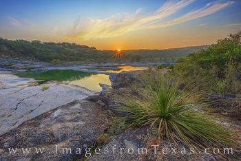 Summer Sunrise over the Pedernales River 825-1