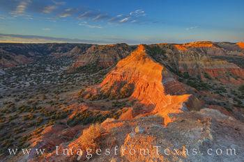 Sunlight in Palo Duro from Capitol Peak 1125-1