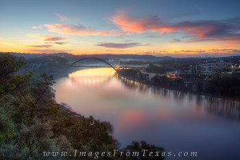 Sunrise at the 360 Bridge in December 3