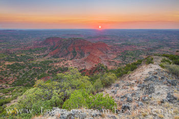 haynes ridge, sunrise, caprock canyon, caprock prints, hiking, overlook, morning, hiking