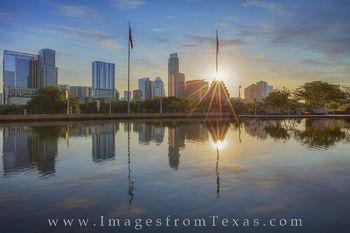 Sunrise over Austin from the Long Center 1