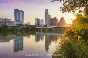 Sunrise over Downtown Austin, Texas, Summer