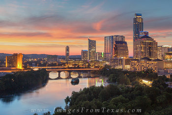 Sunset over Austin, Texas